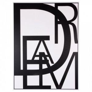 Tablou alb/negru din MDF si polistiren 60x80 cm Dream Somcasa