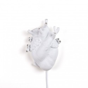 Aplica alba din portelan Heart Seletti