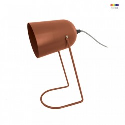Lampa birou maro din fier 30 cm Enchant Clay Brown Present Time