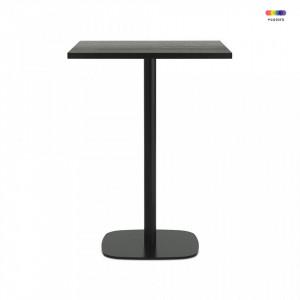 Masa neagra din otel si lemn 70x70 cm pentru cafea Form Normann Copenhagen