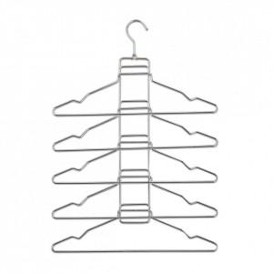 Umeras multiplu argintiu din metal Clothes Hanger Zeller