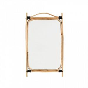 Oglinda dreptunghiulara maro din bambus 34x56 cm Harper Madam Stoltz