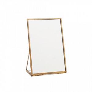 Oglinda dreptunghiulara de masa maro alama din fier 10x15 cm Sara Madam Stoltz