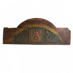 Decoratiune multicolora din lemn pentru perete 67x164 cm Ganesha Raw Materials