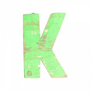 Decoratiune verde din lemn 18 cm K Raw Materials