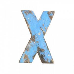 Decoratiune albastra din lemn 18 cm X Raw Materials