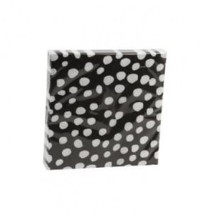 Set 20 servetele 33x33 cm Dots Black White Zangra