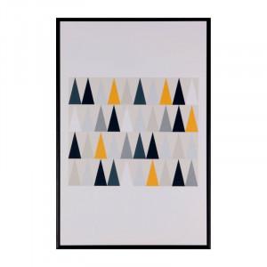 Tablou multicolor din MDF si polistiren 40x60 cm Triangles Somcasa