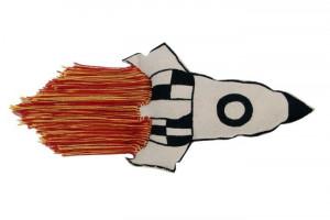 Perna decorativa multicolora din bumbac 30x65 cm Rocket Lorena Canals