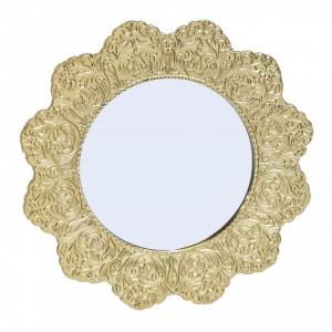 Oglinda aurie din aluminiu 32 cm Be Pure Home
