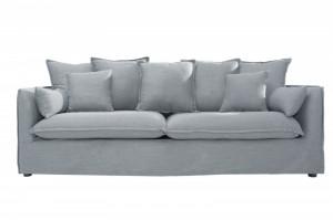 Canapea gri din poliester si in 215 cm Heaven Grey Invicta Interior