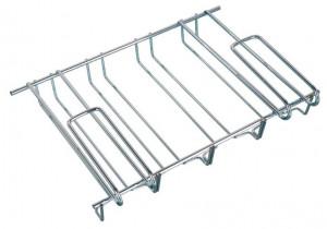 Suport 12 pahare argintiu din metal pentru raft Cupboard Glass Holder Wenko