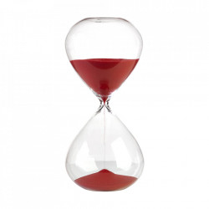Clepsidra din sticla cu nisip rosu Ball M Pols Potten