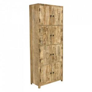 Dulap maro din lemn de mango 200 cm Kindila Raw Materials