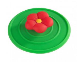 Dop multicolor din silicon si PVC pentru chiuveta Stop Flower Wenko