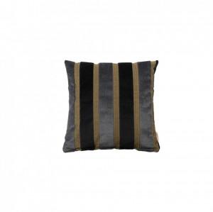 Perna gri/neagra din viscoza si poliester 45x45 cm Scott Dutchbone