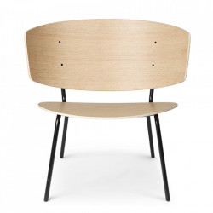 Scaun dining din lemn si metal Herman Lounge Natural Oak Ferm Living