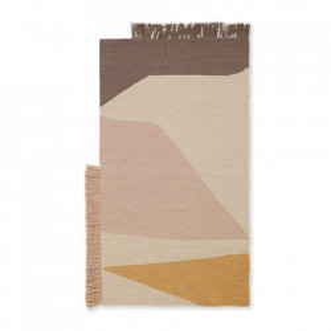 Covor multicolor din lana si bumbac 50x70 cm Kelim Earth Ferm Living