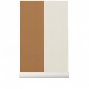 Rola tapet crem/galben mustar din hartie 53x1000 cm Lines Mustard Off-White Ferm Living
