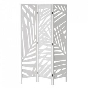 Separator camera alb din lemn si MDF 170 cm Paulonia Leaves White Pickling Unimasa