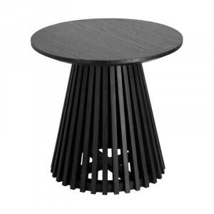 Masuta neagra din lemn mindi pentru cafea 50 cm Irune La Forma