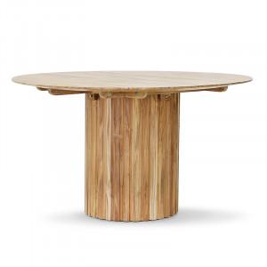 Masa dining maro din lemn de tec 140 cm Round HK Living