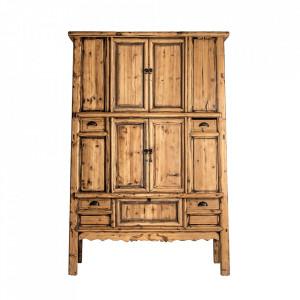 Dulap maro din lemn 205 cm Kurak Vical Home