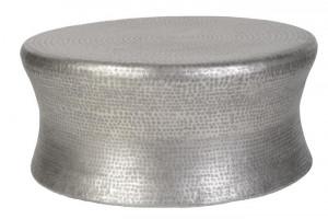 Masuta argintie din aluminiu pentru cafea 90 cm Delilah Giner y Colomer