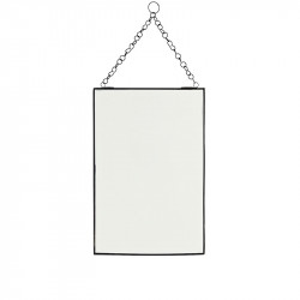 Oglinda dreptunghiulara neagra din fier 20x30 cm Keri Madam Stoltz