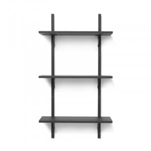 Etajera neagra din placaj pentru perete 102 cm Sector Bitt Ferm Living