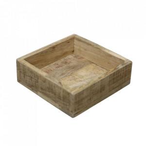 Tava maro din lemn de mango 20x20 cm Vintage Raw Materials