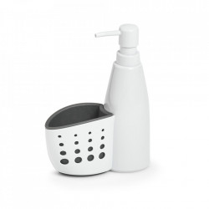 Dispenser sapun lichid alb/gri din plastic 350 ml Joel Zeller