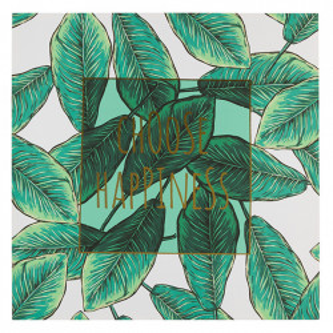 Tablou verde din MDF 79x79 cm Happiness Santiago Pons