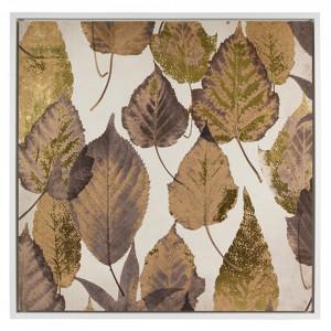 Tablou multicolor din MDF 104x104 cm Brown Leaves Santiago Pons