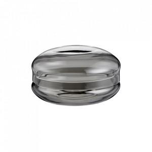 Cutie cu capac gri din sticla pentru bijuterii Macaron Large Bolia
