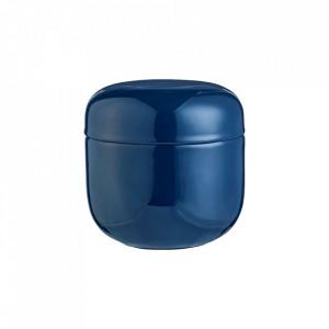 Cutie cu capac albastra din metal pentru bijuterii Pillola Bolia