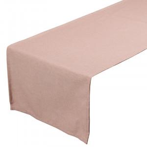 Traversa de masa roz din bumbac si poliester 40x135 cm Panama Santiago Pons