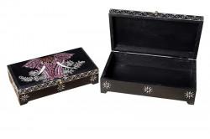 Set 2 cutii cu capac multicolore din lemn pentru bijuterii Kevis Giner y Colomer