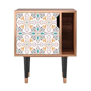 Noptiera multicolora din MDF si lemn Spring Ceramics Furny