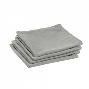Set 4 protectii masa patrate gri din textil 40x40 cm Samay La Forma