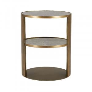 Masuta din fier si sticla pentru cafea 40 cm Valmai Lifestyle Home Collection
