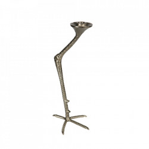 Suport lumanare auriu din aluminiu 39,5 cm Crane Be Pure Home