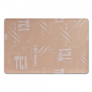 Protectie masa dreptunghiulara bej/alba din plastic 28,5x43,5 cm Mocha Zeller