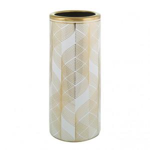 Suport alb/auriu din ceramica pentru umbrele Tamir Santiago Pons