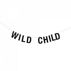 Ghirlanda decorativa neagra din hartie Wild Child Bloomingville