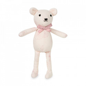 Jucarie roz din bumbac organic Teddy Dandelion Cam Cam