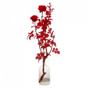 Decoratiune rosie/transparenta din sticla si plastic 106 cm Branch Pols Potten