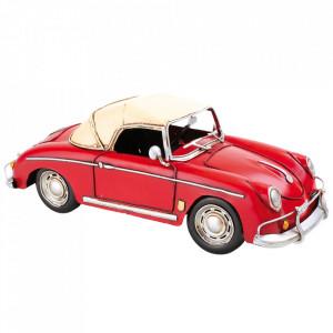 Decoratiune rosie din metal 10 cm Sports Car