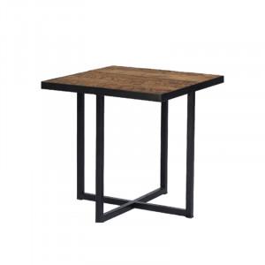 Masuta din metal si lemn pentru cafea 45x45 cm Bilbao Lifestyle Home Collection