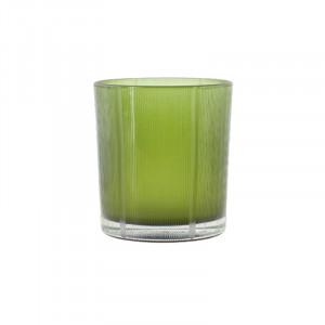 Suport verde din sticla pentru lumanare 8 cm Lark Lifestyle Home Collection